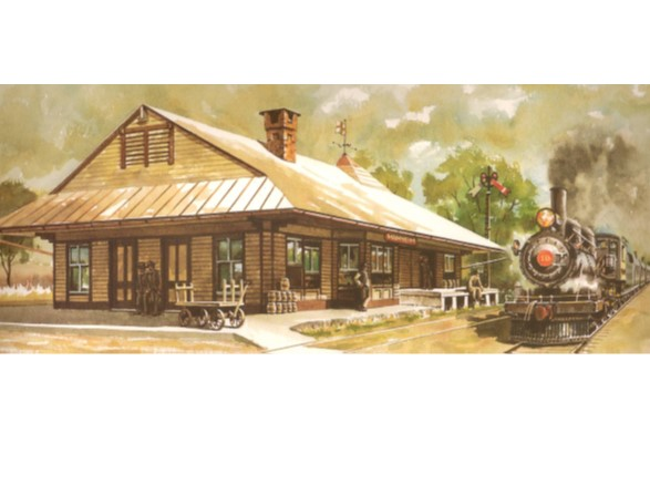 Ralph Lindsay watercolor of the Manheim RR Station